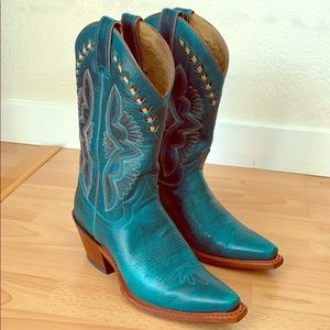 Gorgeous Turquoise Women's Justin Boots sz 7